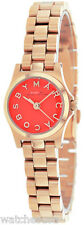 Marc Jacobs Women's Henry Orange Dial Stainless Steel Watch MBM3311