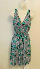 Diane von Furstenberg Oblixe Cheetah Island Parakeet shift dress 8 green DVF