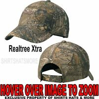 Men's Realtree Xtra Camo Hat Baseball Cap Hunting Adjustable NEW!