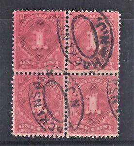 Sc J38 1c Claret Postage Due DL Wmk BLK 4 Annaline Ink Used Hackensack NJ (FB74)