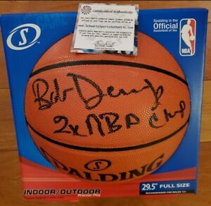 "Bob Dandridge Signed NBA Basketball Inscribed ""2X Champ"" (Schwartz COA)"