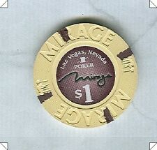MIRAGE CASINO (LAS VEGAS) $1 POKER ROOM CHIP (2013) (UNC-NEW) (D1118)