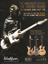 Nuno Bettencourt Signature Series Washburn N4 Guitars ad 8 x 11 advertisement