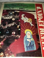 Needlemagic Madonna Mary w/ Baby Jesus Needlepoint Christmas Stocking Kit 21""
