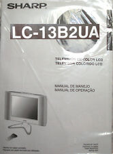 NEW Sharp LC-13B2UA Color LCD Television TV Manual Home Theater Cable HD Aquos