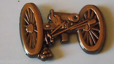 CIVIL WAR 6 PDR FIELD PIECE LAPEL BADGE BRONZE PLATING 30MM WIDE WITH 1 PIN