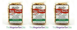 Butler Soy Curls 3-PACK Vegan Meat Substitute 1/12/2022 FREE SHIPPING vegetarian