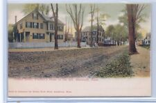 """Postcard of """"Friend Street, Whittler's Home on the Left. Amesbury, Mass."""""""