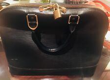 Louis Vuitton Alma PM beautiful sleek bag purse crafted in Black epi leather
