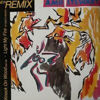 """Amii Stewart-Knock On Wood Vinyl 12"""" Single.1985 Sedition EDITL 3303."""