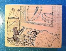 House Mouse Monday Night Football  #269 Stampa Rosa 1998 XXRARE Rubber Stamp EUC