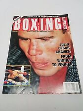 Boxing Illustrated April 1994 Julio Ceasar Chavez Cover Ali