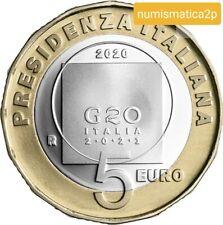 ITALIA  5 € euro FS Proof PRESIDENZA ITALIANA G20  2020     Novità   DISPONIBILE