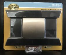 Hampton Bay Wireless Wired Doorbell Black and Brushed Nickel #1001407818 New!