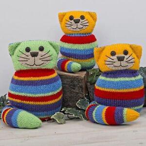 Twilleys - Crazt Cats - Knitting Kit - inc wool/needles - Packaging missing
