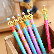 Metal Crown Ballpoint Pen Dot Ball Pen Writing Stationery School Office Supply T