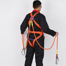 2m Fall Protection Full Body Safety Harness Double Ropes & Big Hooks - 100kg