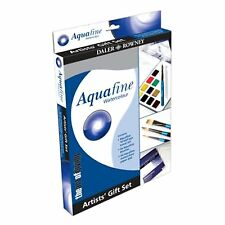 Daler Rowney Aquafine Watercolour Artist's Gift Set - Paint Box, Brushes, Pad