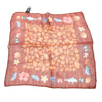 Pocket Square Rust Brown Under The Sea Silk & Linen Blend RRP £29 TR 143