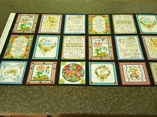 Mottos To Live By Panel 23x43 Mary Engelbreit Quilting Treasures Blocks