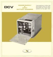 VINTAGE 1966 NEWMARK DCV RV POWER SUPPLY & BATTERY CHARGER MANUAL EMAIL