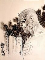 Daredevil by Jim Lee - Marvel Comics Headsketch - Signed Sketch / Original Art