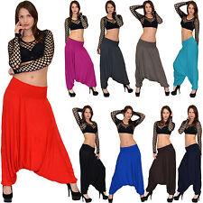 Pumphose Baggyhose Haremshose Aladinhose Damen Aladin Pump Harem Yoga Hose S10
