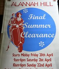 "ALANNAH HILL PROMO AD POSTER SUMMER CLEARANCE 58"" x 38"" VESPA MOD AUSTRALIA"