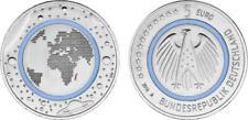 "BRD 5 Euro 2016 A. ""Blue Planet Earth"" blauer Polymerring, UNC.-"