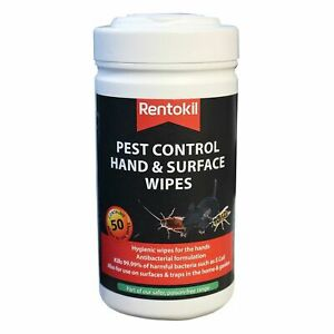 NEW RENTOKIL PEST CONTROL HAND AND SURFACE CLEANING WIPES PK50