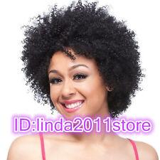 Señoras de moda peluca encanto Para Mujer Negro corto rizado De Cabello Natural Clásico Pelucas