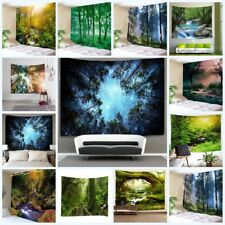 Forest Tree Tapestry Sunshine Sky Wall Hanging Scenery Art Bedspread Home Decor