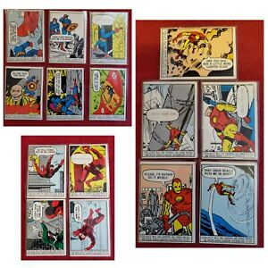 RARE 1966 MARVEL SUPER HEROES - Captain America/Iron Man/Daredevil. 15 Card Lot