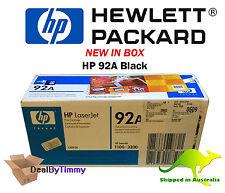 Genuine HP 92A [C4092A] Black Toner Cartridge New in Box Free Postage