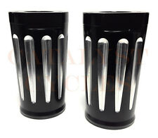 Black Billet Fork Sliders for Harley Fork Slider Covers on Touring Models 80-14