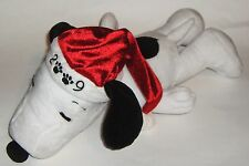 SNOOPY Plush PEANUTS 2009 Celebrate 60 Years Santa HAT and a Charlie Brown Tree