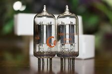 Matched Pair RCA Clear Top 12AU7A 12AU7 ECC82 CONN Preamp 1968 Vacuum Tubes VTC