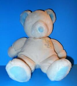 "Russ Bear God Danced the Day You Were Born Baby Plush Rattle Stuffed Teddy 13"""