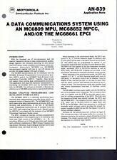 Motorola Application Note 839 Data Comm System Using Mc6809 Mc68652 Mc68661