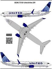 1/144 Boeing 737-800 United New livery decal