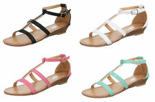Markenlose Damen-Sandalen & -Badeschuhe mit Keilabsatz/Wedge für Kleiner Absatz (Kleiner als 3 cm)