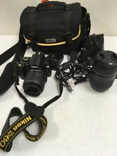 Nikon D60 DSLR Camera with 18-55mm and 70-300mm Promaster