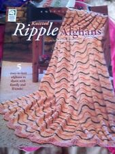 House Of White Birches. Knitted Ripple Afghans. Free Post