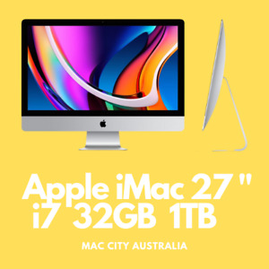 Apple iMac 27 inch i7 32GB RAM 1TB