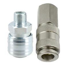 EURO Air Line Hose Compressor Fittings Connector Female Quick Release 2 PACK 1