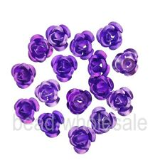100pcs Fashion Rose Flower Aluminum Spacer Beads 6mm For Jewelry Making