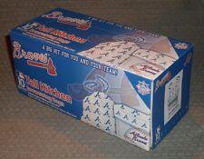 NIB MLB 10 PACK TALL KITCHEN DRAWSTRING TRASH / GARBAGE BAGS - ATLANTA BRAVES