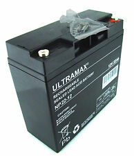 ULTRAMAX 12V 22AH (as 17ah, 18ah, 20ah) Toy Car Battery Feber Peg Perego Injusa