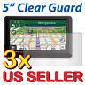 "3x Clear LCD Screen Protector Garmin Nuvi 50 50LT 50LM 50LMT LT LM LMT 5.0"" GPS"