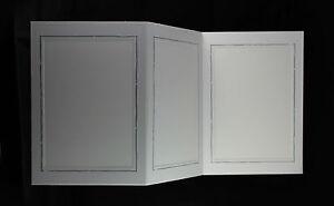 5 Leporellos, 3-seitig f. Bildmaß 13 x 18 cm, Fotoalbum Silberrand, Portraitfoto